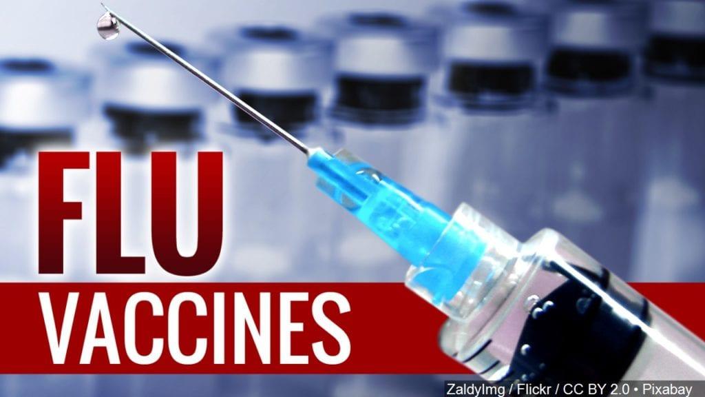 FLU VACCINES NOW IN