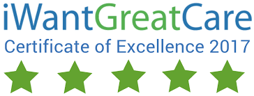 iwantgreatcare certificate of excellence